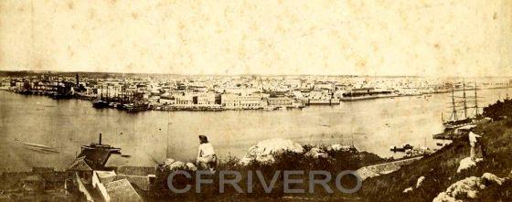 Panorámica de La Habana desde el Morro en 1880. Fotógrafo: Mestre