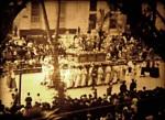 """Paso de Semana Santa de """"La Pollinica"""" por la Alameda. Málaga h. 1930"""