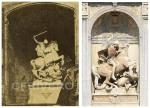 Dos fotografías_Sat Jordi en la fachada de la Generalitat y un San Jorge desconocido