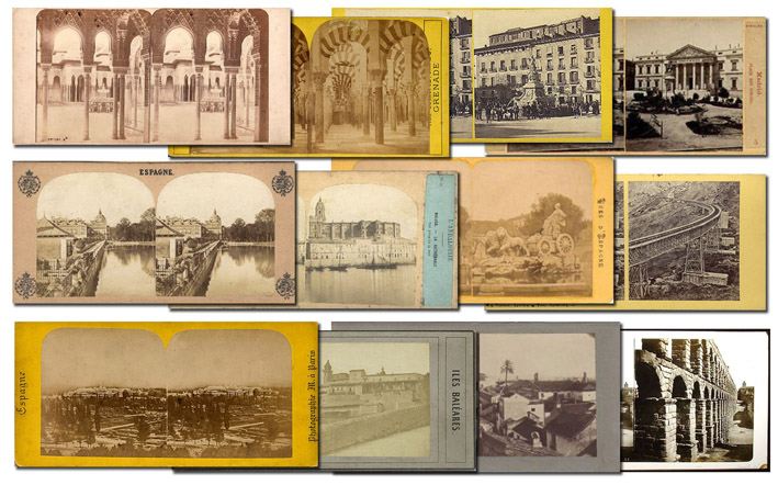 Selección de estereoscopias de ciudades españolas. Varios autores. h. 1860