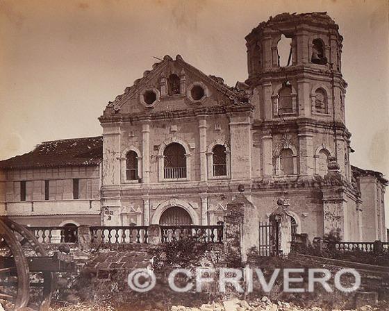 "Francisco Van Camp. Manila. Iglesia del poblado de Paco ..."" Albúmina. 1880"