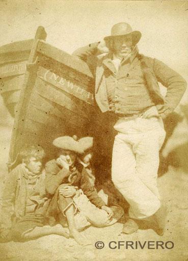 Hill & Adamson. Retrato de James Linton, Newhaven 1845. Calotipo. (Col. Fernández Rivero)