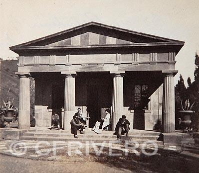 John Hollingworth Mann. [Templo del Cementerio Inglés de Málaga]. Albúmina, ca. 1868