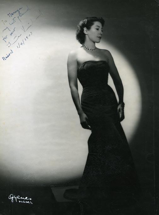 Retrato de señora. Gyenes. Madrid 1946 Gelatinobromuro