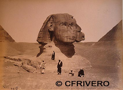 Fotografía anónima de la Esfinge (Egipto) hacia 1870