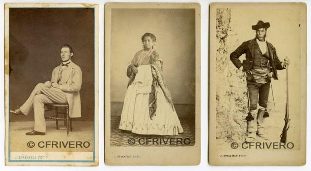Fotografías de José Spreáfico, retrato y tipos malagueños. Málaga 1860/70