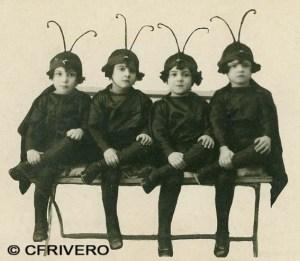 Anónimo. [Cuatro niñas]. Málaga, gelatinobromuro, ca. 1915