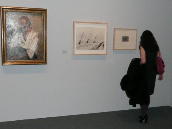 """Exposición """"Picaso de Málaga"""", Museo Picasso Málaga, febrero 2013. Fotografía del naufragio de la Fragata Alemana Gneisenau en 1900. (Col. Fernández Rivero)"""