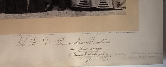 Detalle de la fotografía e J. Laurent de la familia del Conserje del Museo del Prado