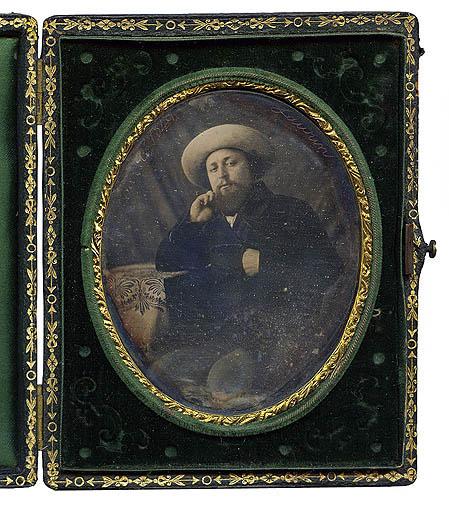 Jean Gairoard. Retrato de caballero. Alhaurín el Grande (Málaga) 1849. Daguerrotipo (Col. particular)
