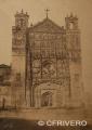 Calotipo de E.K. Tenison de la fachada de la catedral de Valladolid en 1872