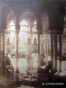 Joaquín Pedrosa. [Patio de los Leones en la Alhambra de Granada]. Calotipo. 1857 (Col. Fernández Rivero)