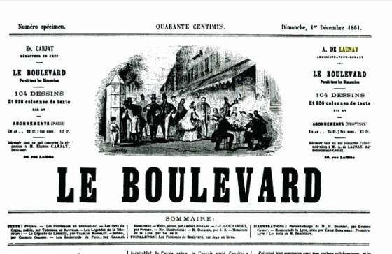 "Cabecera de la revista ""Le Boulevard"" (1861-1863) Paris."