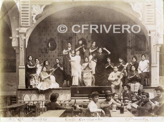 Emilio Beauchy. Nº 179 Sevilla. Café Cantante. Albúmina. Hacia 1885 (Col. Fernández Rivero)