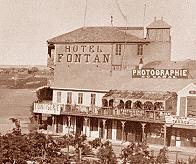 Detalle de la fachaca del estudio de Hipolyte Arnaux en Port-Said,1860s. Foto de Hipolyte Arnoux. (CFRivero)