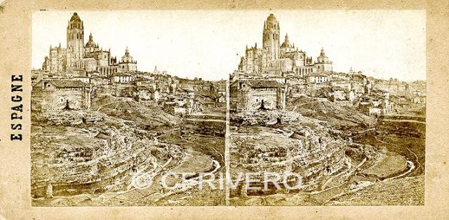 Segovia en 1857, estereoscopia de Sevaistre, Colección Gaudin.