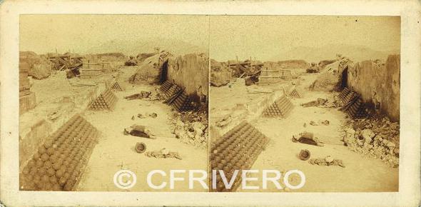 Batalla de Gaeta (Italia). Estereoscopia de Sevaistre en 1861