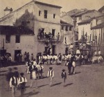 Un día de toros en Álora, hacia 1870. Fotografía de José Spreafico.