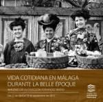 """Cartel de la exposición """"Vida cotidiana en Málaga durante la Belle Époque"""""""