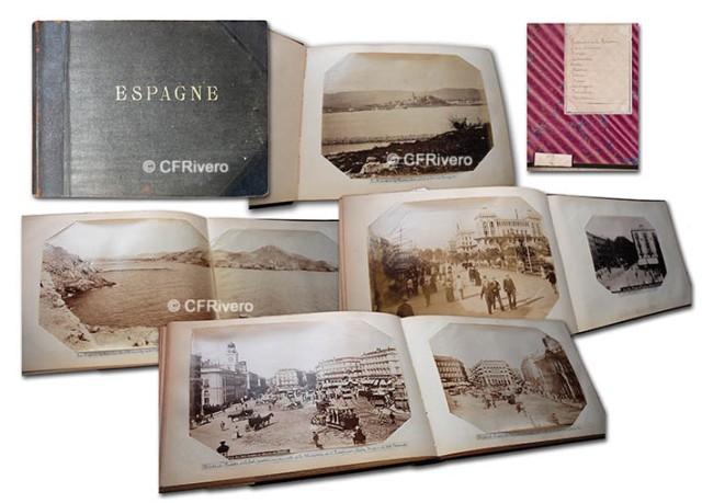 Un álbum de fotografías españolas. ca. 1880. Albúminas de diversos autores.