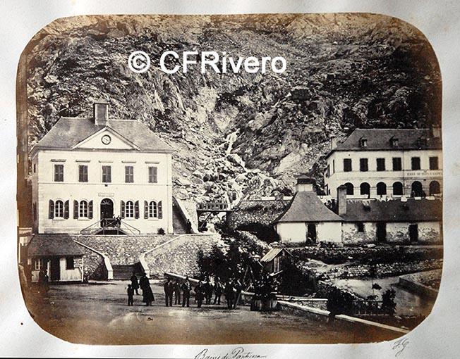 Fotografía de los Baños de Panticosa de Fernando Guerrero Scholtz hacia 1860, Albúmina (Colección Fernández Rivero)