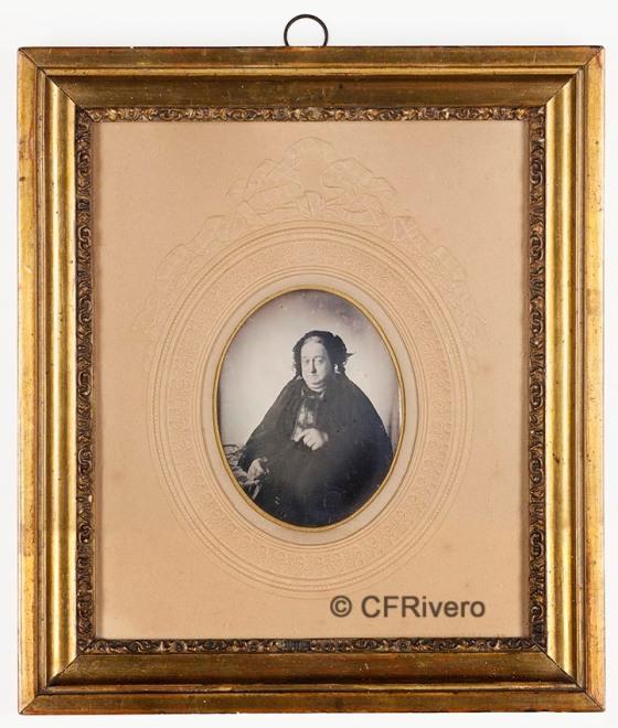 Sanz y Benito, Miguel. [Retrato de una dama navarra]. Pamplona, 1850. Daguerrotipo (Col. Fernández Rivero