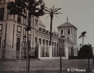 De Clercq, Louis ( 1837-1901) Paris. Sevilla, fachada del palacio de San Telmo. Albúmina, negativo de papel. 1860