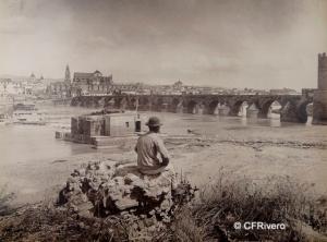 Levy et Cie., J. (Isaac Georges Levy 1833-1913) Paris. Puente romano de Córdoba sobre el Guadalquivir. Albúmina. 1855-88