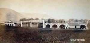 Spreáfico Antonioni, José (1831-1878) Málaga. Puente sobre el río Guadalhorce en Málaga. Albúmina. 1869