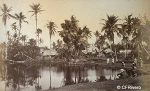 Samuel Bourne (1834-1912) Reino Unido. Poblado en Bengala, India. Albúmina. 1864