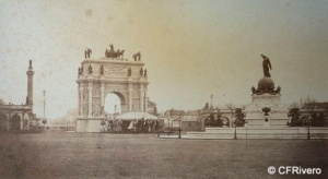 Richebourg, Pierre Ambroise (1810-1872) Paris. Inauguración del boulevard del Príncipe Eugénio, plaza de las Naciones, Paris. Papel a la sal. 1862