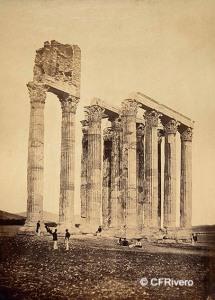 Robertson, James (1813-1888) Reino Unido. Templo de Júpiter Olímpico en Atenas. Albúmina. 1853-54