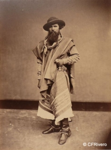 Courret Hermanos (Actividad 1863-1887) Lima. Gaucho de la República Argentina. Albúmina. 1868