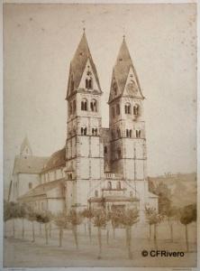Marville, Charles (Charles François Bossu 1813-1879) Paris. Basílica de San Cástor en Coblenza (Alemania). Papel a la sal. 1854