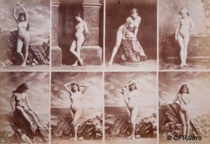 Igout, Louis Jean Baptiste (fot.) (1837.1881) Calavas (ed.). Estudios de desnudos femeninos. Albúmina. Ca. 1875
