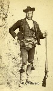 Spreáfico Antonioni, José (1831-1878) Málaga. Retrato de un contrabandista. Carte de visite en albúmina. 1865