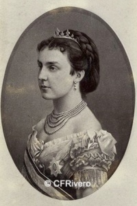Laurent, Jean (1816-1886) Madrid. Retrato de la Reina Mercedes. Carte de visite en albúmina. 1878