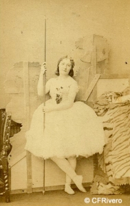 Silvy, Camille (1834-1910) Londres. Retrato de la bailarina Lydia Thompson. Carte de visite en albúmina. Ca. 1860