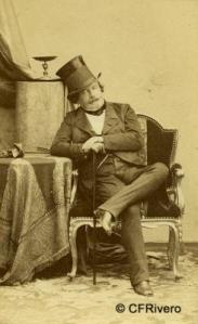 Disderi, André Adolphe Eugène (1819-1889) Paris. Retrato de Napoleón III. Carte de visite en albúmina. Ca. 1860