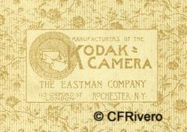 Dorso de un revelado en Kodak. Ca. 1890
