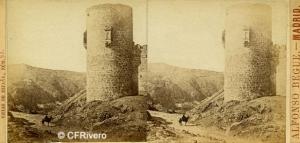 Begue, Alfonso (Activo 1858-1868) Madrid. Castillo de San Servando, Toledo. Cartulina estereoscópica, albúmina. Ca. 1860