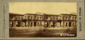 Carpentier, Joseph (1829-1871) Paris. L'Hotel de Ville a Seville. Cartulina estereoscópica, albúmina. 1856