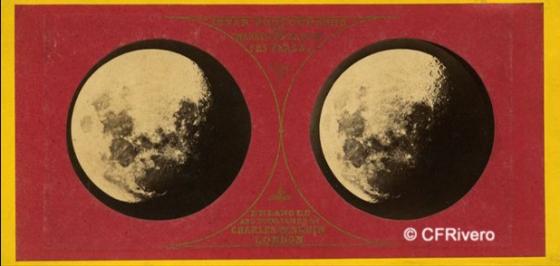 de la Rue, Warren (fot.) (1815-1889) Charles Panhnin, Londres (ed.). Lunar photographs. Cartulina estereoscópica, albúmina. 1859