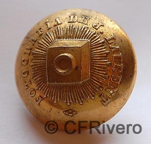 Botón de los uniformes de los empleados del fotógrafo Jean Laurent. Madrid 1860-80
