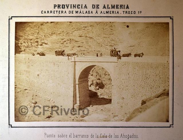 Autor desconocido. Puente sobre el barranco de la Cala de los Ahogados (Almería). Albúmina, 1873