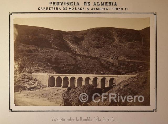 Viaducto sobre la Rambla de la Garrofa (Almería). Albúmina. ca. 1873