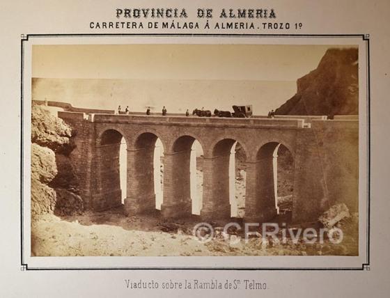 Autor desconocido. Viaducto sobre la Rambla de San Telmo. Almería. Albúmina. 1873