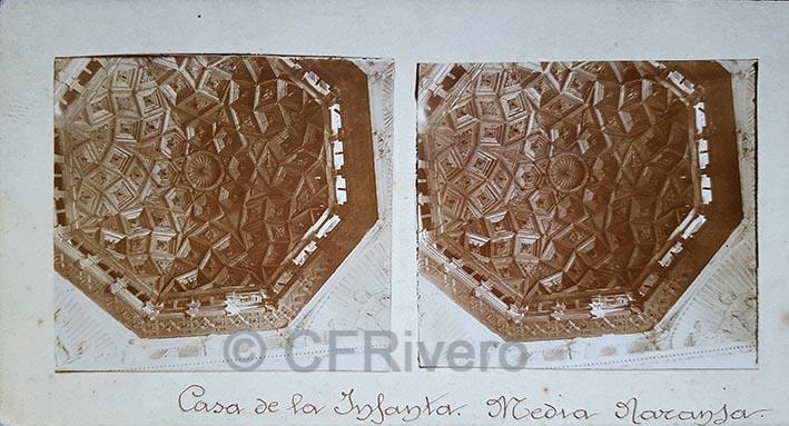 Fotografía de la cúpula del Palacio de la Infanta en Zaragoza