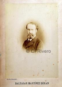 José García Ayola. Retrato de Baltasar Martínez Durán. Granada, Ca. 1880. Albúmina