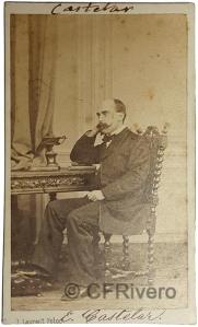 Jean Laurent. Retrato de Emilio Castelar. Madrid. Ca. 1865. Albúmina